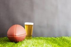 Football on grass Royalty Free Stock Photos