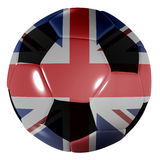 Football great britain. Traditional black and white soccer ball or football great britain stock illustration