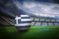 Football in greece colours Royalty Free Stock Photography