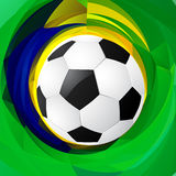 Football in green background. Football design in abstract green background Royalty Free Stock Photography