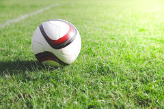 Football with green field. Club training Stock Image