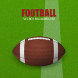 Football on a green field. Vector illustration. Stock Images