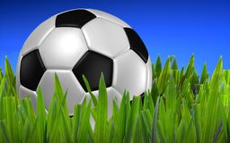 Football on green grass Royalty Free Stock Photo