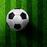 Football in green grass Royalty Free Stock Images
