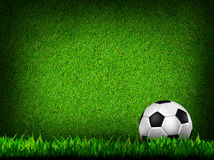 Football in green grass Royalty Free Stock Image