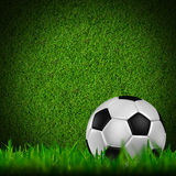 Football in green grass Stock Images