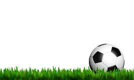 Football in green grass Stock Photo