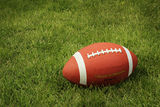 Football on green grass Stock Photos