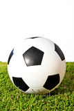 Football on green grass Royalty Free Stock Image