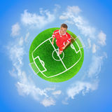 Football green planet Royalty Free Stock Photography