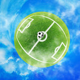 Football green planet Stock Images