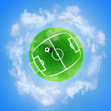 Football green planet Royalty Free Stock Photos