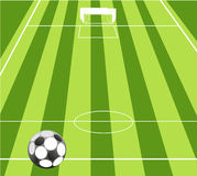 Football ground background Stock Photo