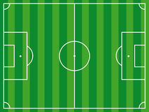 Football ground background top view Stock Photography