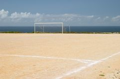 Football ground field royalty free stock photo
