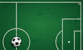 Football Ground Green Stripes Cover Long Stock Images