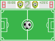 Football ground and sports board Stock Images