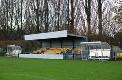 Football ground stand Stock Photography