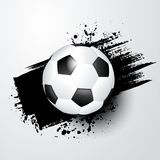 Football world or european championship with ball and black splash in the background. Stock Photography