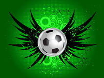 Football on grunge wings Stock Images