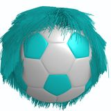 FOOTBALL HAIR Royalty Free Stock Image