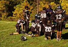 Football Half-time Pep Talk - 2 royalty free stock images