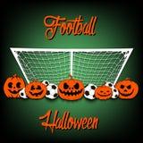 Football and Halloween Stock Image