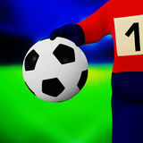 Football in a hand Royalty Free Stock Images