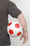 With football in hand  Royalty Free Stock Photos