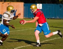 Football Handoff Stock Photography