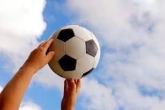 Football hands Stock Photo