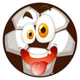 Football with happy face Royalty Free Stock Image