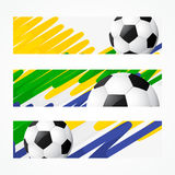 Football headers set. Colorful set of football headers Royalty Free Stock Image