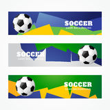 Football headers. Set of football headers design Stock Photography