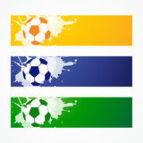 Football headers. Set of three football headers Stock Photography