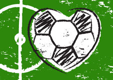 Football heart Royalty Free Stock Photos