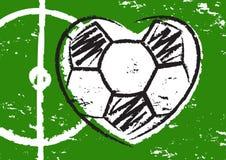 Football heart Royalty Free Stock Photos
