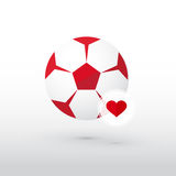 Football with heart Stock Photos