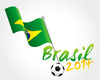 Football Hearts. Football World Cup Brazil Promotional Sign Royalty Free Stock Photo