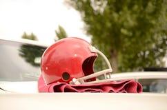 Football-Helm Stockbild