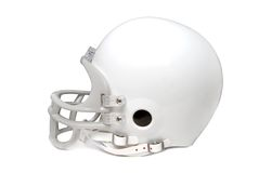 Football helmet. On a white background Royalty Free Stock Photography