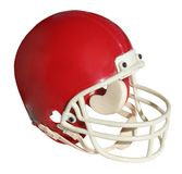 Football helmet. Red football helmet isolated on white Royalty Free Stock Photos