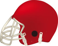 Football helmet. Face football goal Stock Images