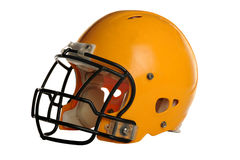 Football Helmet. Isolated over white background - With Clipping Path Royalty Free Stock Photos