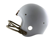 Football Helmet. Photo of a football helmet isolated on white Stock Photos