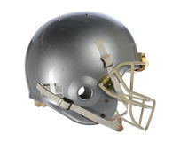Football Helmet. Gray football helmet isolated over white background Royalty Free Stock Photography