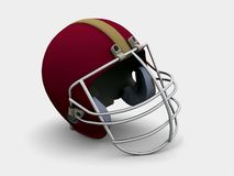 Football helmet. A 3d red football helmet Stock Photography