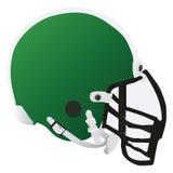 Football helmet. Vector illustration of a green football helmet Stock Photos