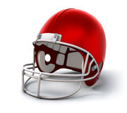 Football helmet. Red american football helmet (with clipping path Stock Photography