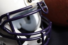 Football Helmet. Close-up of a football helmet and facemask Stock Photography